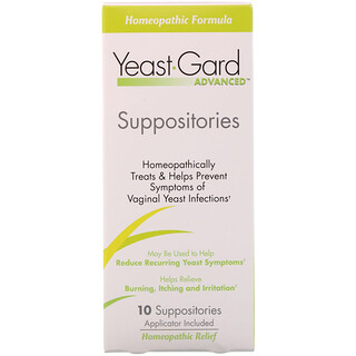 YeastGard Advanced, 효모 가드 고급 좌약(Yeast Gard Advanced Suppositories), 좌약 10 개