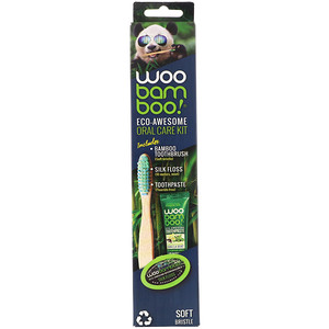Woobamboo, Eco-Awesome Oral Care Kit, 1 Kit'