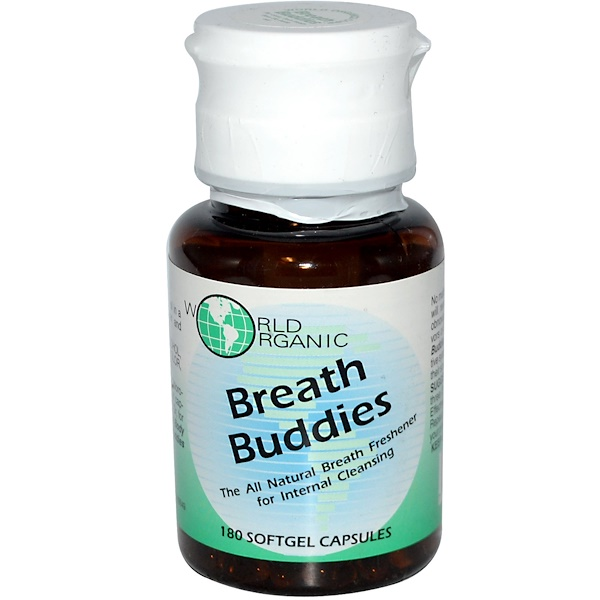 World Organic, Breath Buddies, 180 Softgel Capsules (Discontinued Item)