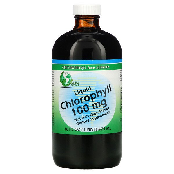 World Organic, Liquid Chlorophyll, 100 mg, 16 fl oz (474 ml)