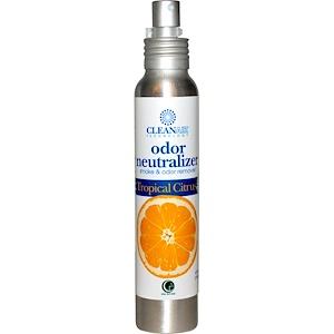 Way Out Wax, Технология очищения воздуха, Нейтрализатор запахов, Тропический цитрус, 4 жидких унции (118 мл)