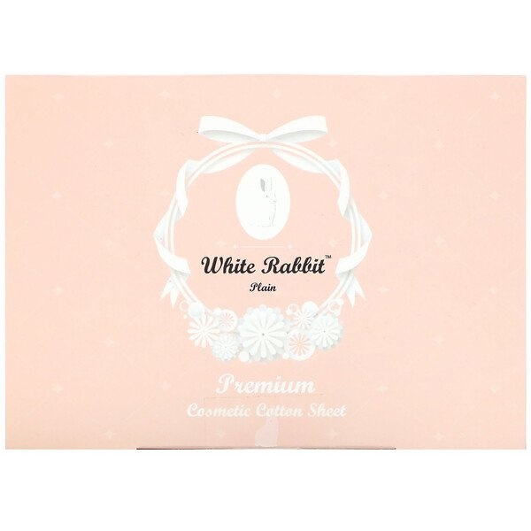 White Rabbit, Premium Cosmetic Cotton Sheet, Plain, 200 Sheets (Discontinued Item)