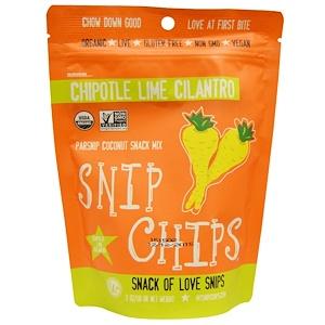 Седжойа фудс, Snip Chips, Parsnip Coconut Snack Mix, Chipotle Lime Cilantro, 2 oz (56 g) отзывы