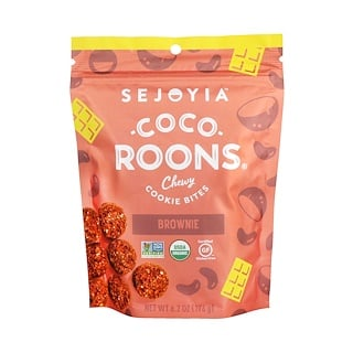 Sejoyia Foods, Coco-Roons, Chewy Cookie Bites, Brownie, 6.2 oz (176 g)