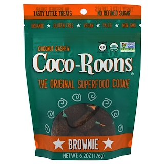Sejoyia Foods, Organic Coconut Cashew Coco-Roons, Brownie, 6.2 oz (176 g)