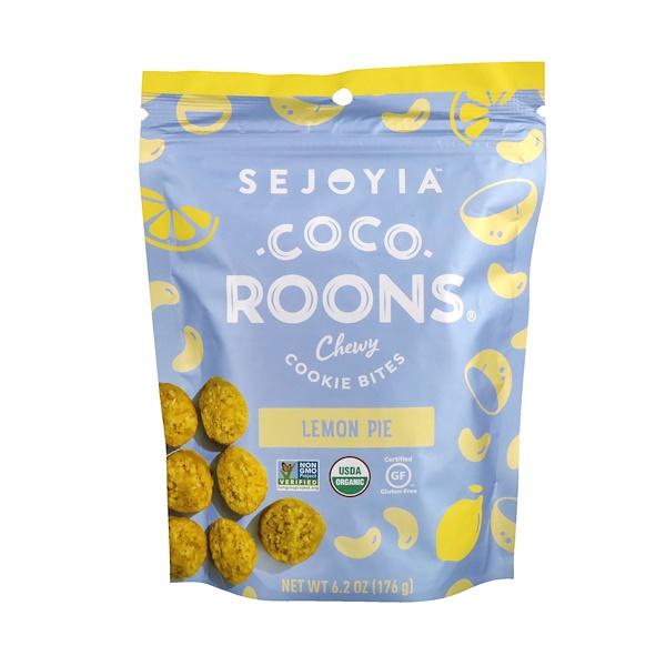 Sejoyia Foods, Coco-Roons,耐嚼型餅乾點心,檸檬派,6、2盎司(176克)