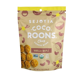 Sejoyia, Coco-Roons, Chewy Cookie Bites, Vanilla Maple, 6.2 oz (176 g)