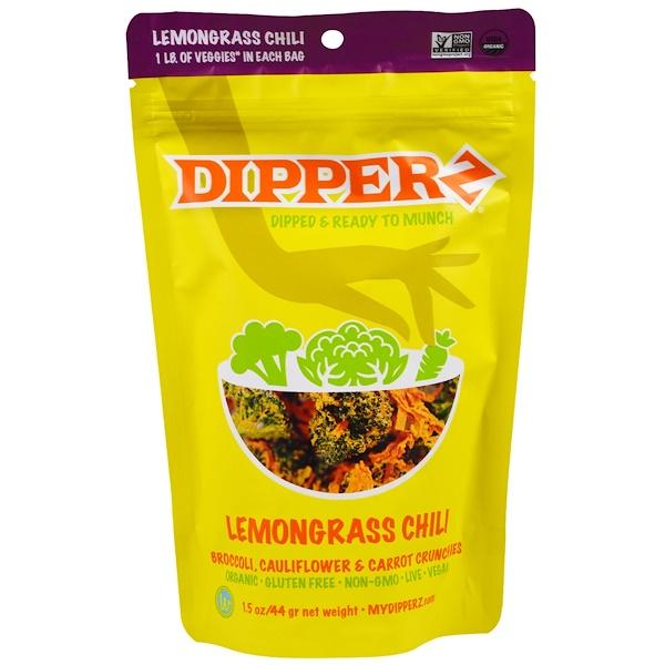 Sejoyia, Dipperz, Broccoli, Cauliflower & Carrot Crunchies, Lemongrass Chili, 1.5 oz (44 g) (Discontinued Item)