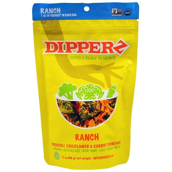 Sejoyia, Dipperz, Broccoli, Cauliflower & Carrot Crunchies, Ranch, 1.5 oz (44 g) (Discontinued Item)
