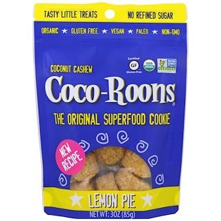 Sejoyia Foods, Organic Coconut Cashew Coco-Roons, Lemon Pie, 3 oz (85 g)