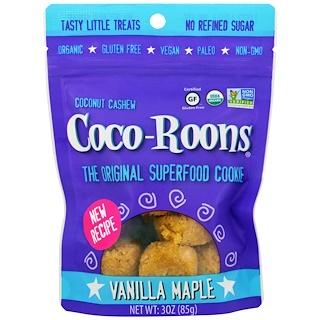 Sejoyia Foods, Organic Coconut Cashew Coco-Roons, Vanilla Maple, 3 oz (85 g)