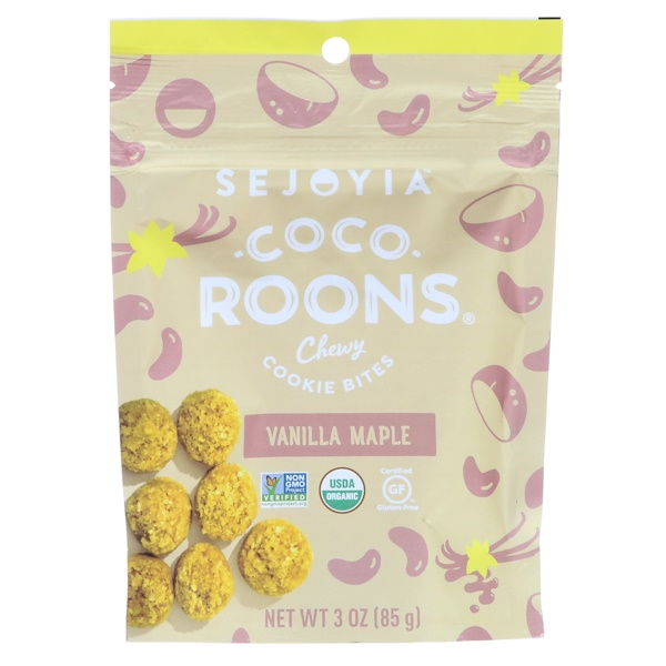 Sejoyia, Coco-Roons, Chewy Cookie Bites, Vanilla Maple, 3 oz (85 g) (Discontinued Item)