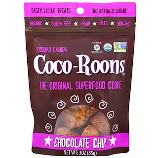 Sejoyia Foods, Organic Coconut Cashew Coco-Roons, Chocolate Chip, 3 oz (85 g)