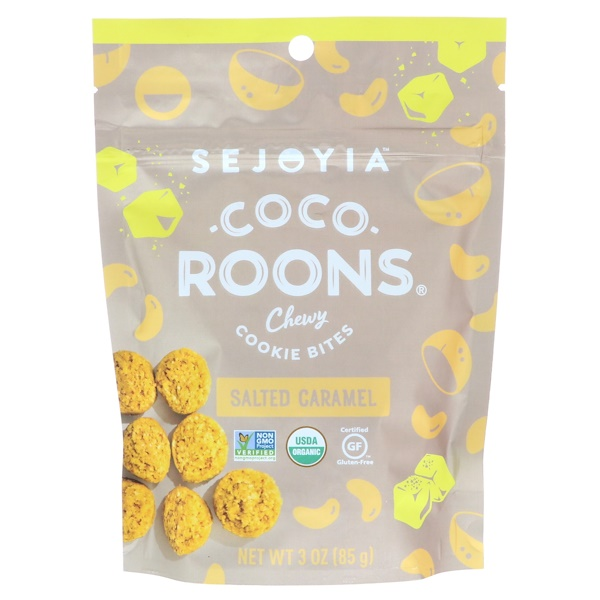 Sejoyia, Coco-Roons, Chewy Cookie Bites, Salted Caramel, 3 oz (85 g)