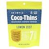 Sejoyia Foods, Coco-Thins, Snackable Cashew Cookies, Lemon Zest, 3.5 oz (99 g)