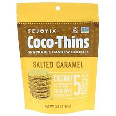 Sejoyia Foods, Coco-Thins, biscuits à la noix de cajou, caramel salé, 99 g (3,5 oz)