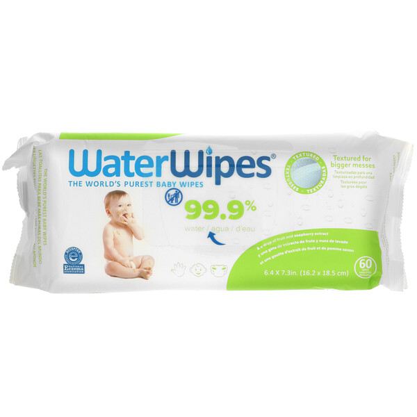 Textured Baby Wipes, 60 Wipes