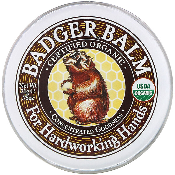 Badger Balm, For Hardworking Hands, .75 oz (21 g)