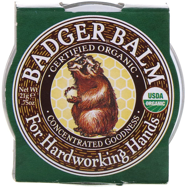 Badger Company, Badger Balm, For Hardworking Hands, .75 oz (21 g)