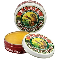 Badger Company, Sore Muscle Rub, Cayenne & Ginger, .75 oz (21 g)