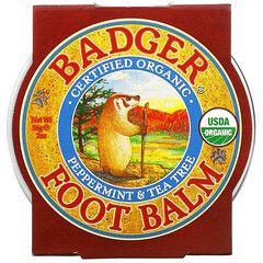 Badger Company, 薄荷茶樹足部按摩膏,2盎司(56克)