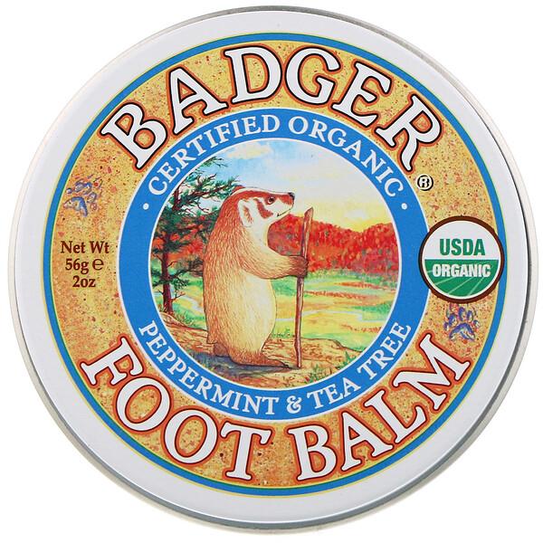 Foot Balm, Peppermint & Tea Tree, 2 oz (56 g)