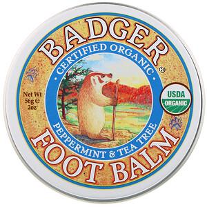 Бадгер компания, Foot Balm, Peppermint & Tea Tree, 2 oz (56 g) отзывы покупателей
