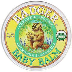 Badger Company, 有機,寶寶身體霜,洋甘菊和金盞花,2 盎司(56 克)