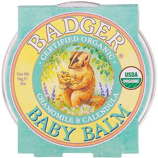 Badger Company, Organic, Baby Balm, Chamomile & Calendula, 2 oz (56 g)