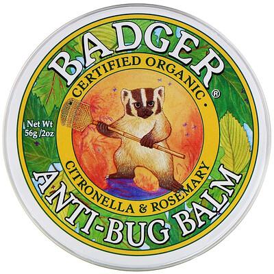 Купить Badger Company Бальзам с защитой от насекомых с цитронеллой и розмарином, 56 г (2 унции)