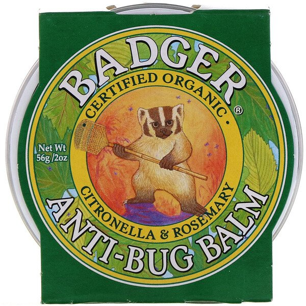 Badger Company, Anti-Bug Balm, Citronella & Rosemary, 2 oz (56 g)