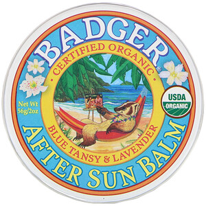 Бадгер компания, Organic, After Sun Balm, Blue Tansy & Lavender, 2 oz (56 g) отзывы