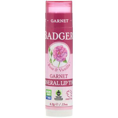 Купить Badger Company Минеральный бальзам для губ, Гранат, .15 унц. (4, 2 г)