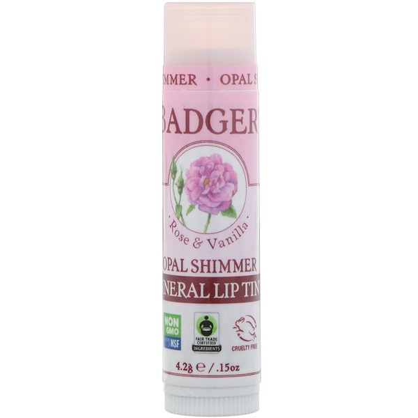 Badger Company, Mineral Lip Tint, Opal Shimmer, .15 oz (4.2 g) (Discontinued Item)