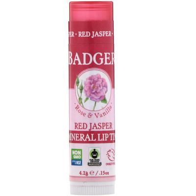 Купить Badger Company Минеральный бальзам для губ, Красная яшма, , 15 унц. (4, 2 г)