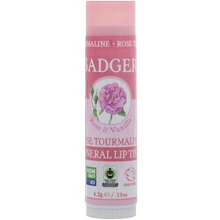 Badger Company, Mineral Lip Tint, Rose Tourmaline, .15 oz (4.2 g)