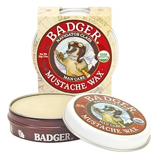 Badger Company, Organic Mustache Wax, Man Care, .75 oz (21 g)