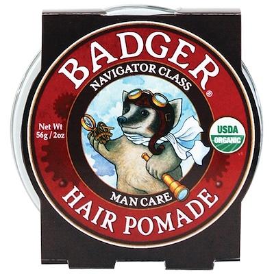 Badger Company Organic Hair Pomade, Navigator Class, Man Care, 2 oz (56 g)