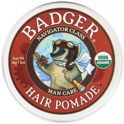 Купить Badger Company Organic, Hair Pomade, Navigator Class, 2 oz (56 g)
