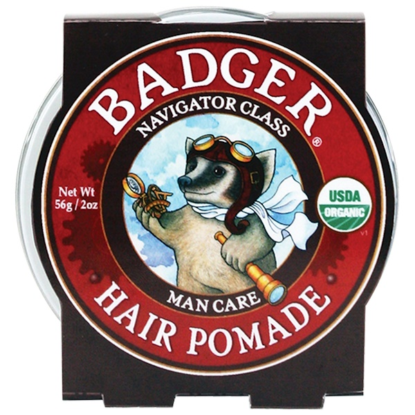 Badger Company, Organic Hair Pomade, Navigator Class, Man Care, 2 oz (56 g)
