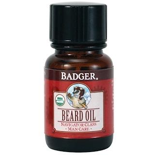 Badger Company, 髭用オイル、ナビゲータークラス、マンケア、1オンス (29.6 ml)