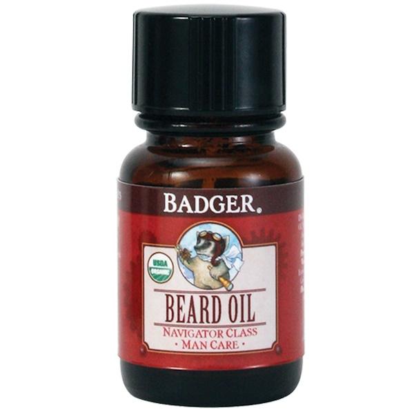 Badger Company, Beard Oil, Navigator Class, Man Care, 1 fl oz (29、6 ml)
