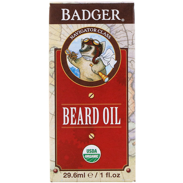 Badger Company, Organic, Beard Oil, Navigator Class, 1 fl oz (29.6 ml)