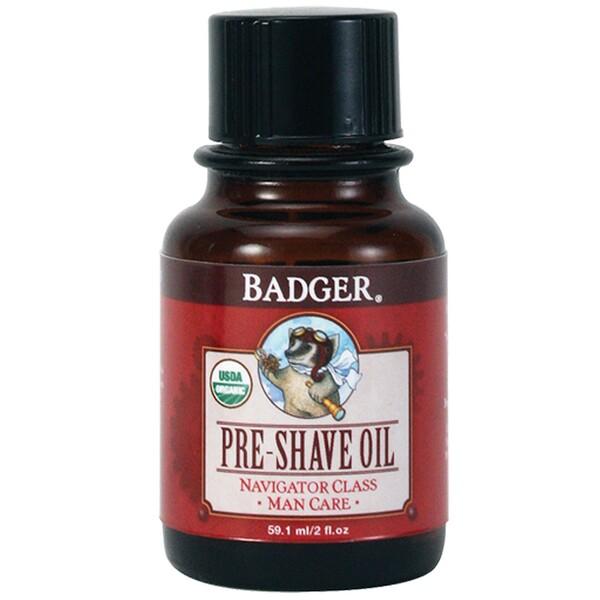 Badger Company, Organic, Pre-Shave Oil, Navigator Class, Man Care, 2 fl oz (59.1 ml) (Discontinued Item)