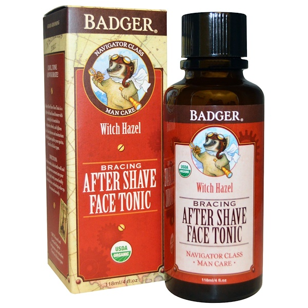 Badger Company, Bracing After Shave Face Tonic, 4 fl oz (118 ml) (Discontinued Item)