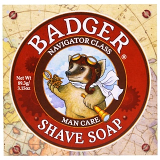 Badger Company, Shave Soap, Navigator Class, Man Care, 3.15 oz (89.3 g)