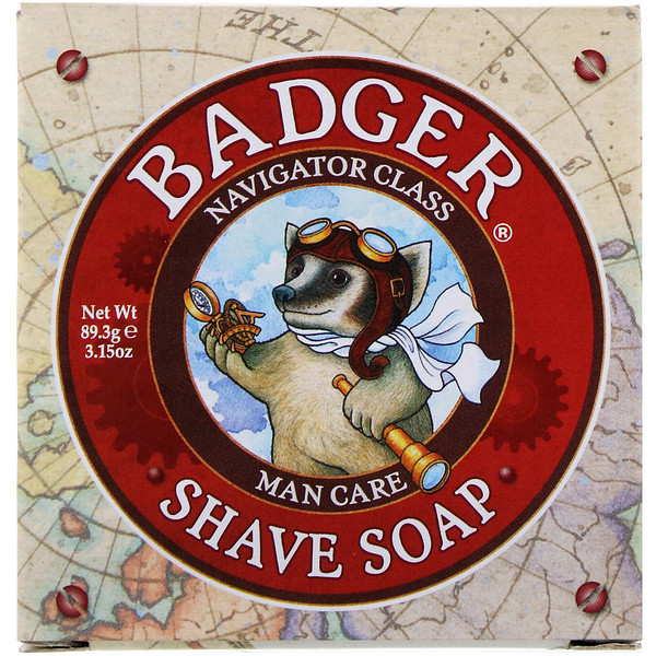Badger Company, Shave Soap, Navigator Class, Man Care, 3.15 oz (89.3 g) (Discontinued Item)