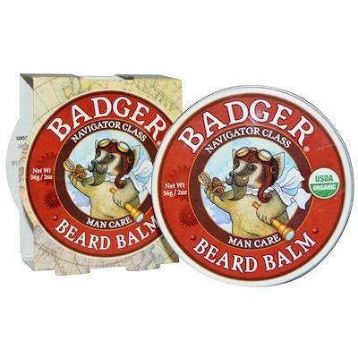 Badger Company Navigator Class Man Care, Beard Balm, 2 oz (56 g)