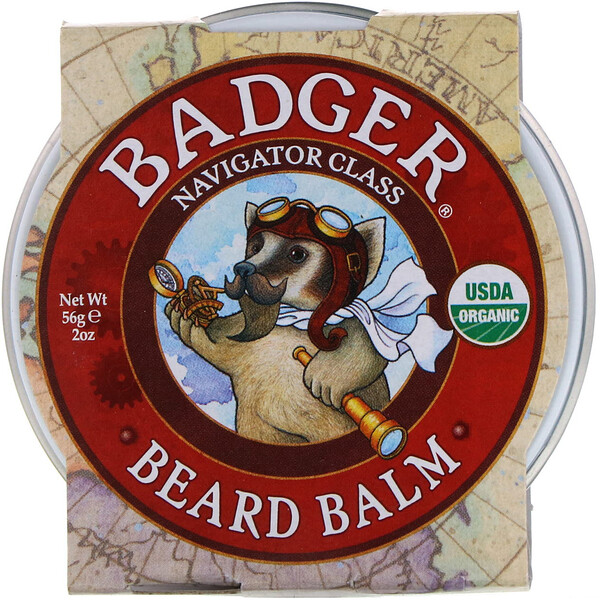 Badger Company, Navigator Class Man Care, Beard Balm, 2 oz (56 g)