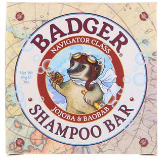 Badger Company, Shampoo Bar, Jojoba & Baobab, 3 oz (85 g)